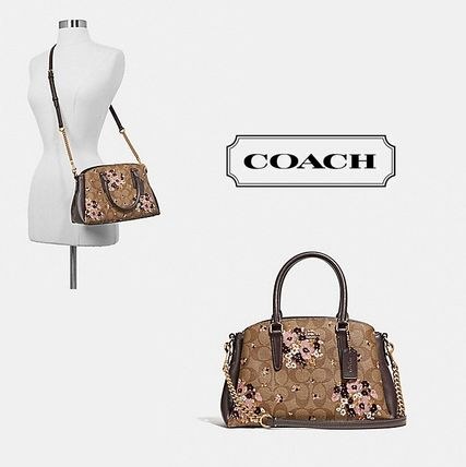 新作★COACH★MINI SAGE CARRYALL IN SIGNATURE 2ways ハンド