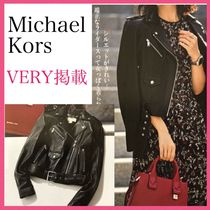 Michael Kors Classic Leather Moto Jacket *VERY掲載*