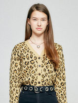 18AWコレクション☆FITTED CARDIGAN HA [LEOPARD]/ [RED]
