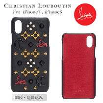 Christian Louboutin★新作スタッズロゴレザーiphone7,8国内発送