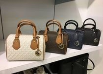 【Michael Kors】新作☆ARIA SM SATCHEL 2way バッグ☆MKロゴ柄