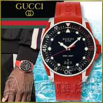 ★送料関税追跡込★GUCCI Dive Black Dial Men's Watch YA136309