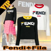 "◆◆VIP◆◆ FENDI   ""FILA-Logo""  Wool Sweater  / 送税込"