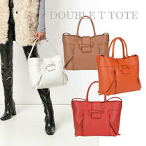 TOD'S(トッズ) トートバッグ 先取り★18-19新 Tod's Double T Shopping Bag M 関税/送料込