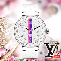 《Louis Vuitton》CONNECTED TAMBOUR HORIZON MONOGRAM WHITE 42