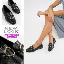 New Look Metal Ring Detail Loafers♪