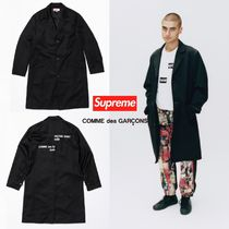 FW18 Supreme x Comme des Garcons Wool Blend Overcoat