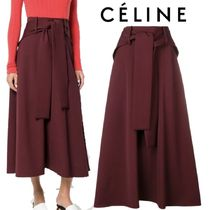 【18AW】★CELINE★front tie a-line skirt
