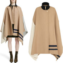 18-19AW C385 COLOR BLOCK WOOL CAPE COAT