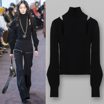 18-19AW C392 LOOK48 TURTLENECK SWEATER WITH SLASH DETAIL
