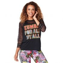★国内発送★ ズンバ Zumba For All Top Bold Black