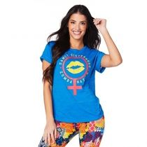 ★国内発送 ズンバ Zumba Sisterhood Crew Neck Top Jersey Blue