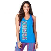 ★国内発送 ズンバ Zumba More Zumba Tied Up Tank Jersey Blue