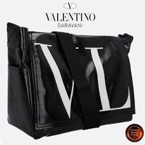 ∮VALENTINO GARAVANI∮ Medium VLTN shinyキャンバスcrossbody