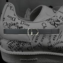 **DIOR*2018‐19AW DIOR 'CD' REVERSIBLE LEATHER BELT BLACK