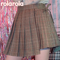 ★rolarola★ GLEN CHECK PLEATS SKIRT_SK-18522
