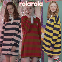 ★rolarola★ STRIPE COLLAR ONE-PIECE_OP-18542