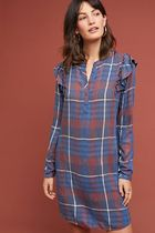 【Anthropologie】完売必須!!Cloth & Stone Ruffled Plaidワンピ