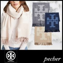 【Tory Burch】Solid Logo Oblong Scarf