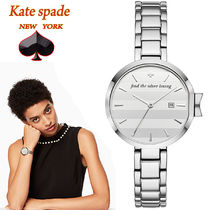 特別価格!kate spade silver-tone mirrored park row watch