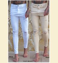 SINNERS ATTIRE RIPPED & REPAIRED JEANS