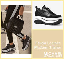 [セール]マイケルコース☆Felicia Leather Platform Trainer