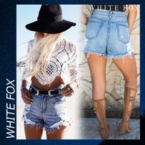 WHITE FOX Cheeky Crochet Shorts Denim ショートパンツ デニム
