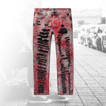 GUCCI★18-19AW  ☆Skinny-Fit Painted Distressed Jeans