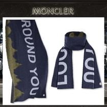 18AW 2 MONCLER 1952 ☆ LOOK AROUND YOU ウール混マフラー