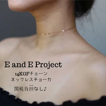 E and E PROJECT★NY発! 14KGF Chain Laceチョーカー*関税込