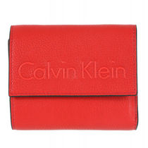★Calvin Klein★Edge Medium 3つ折り財布 / Scarlet