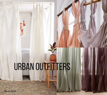 Urban Outfitters カーテン 【送関込】日本未入荷 UrbanOutfitters コットン カーテン 5色