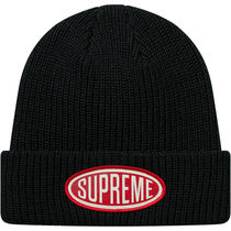 4 WEEK Supreme FW 18 Oval Patch Beanie