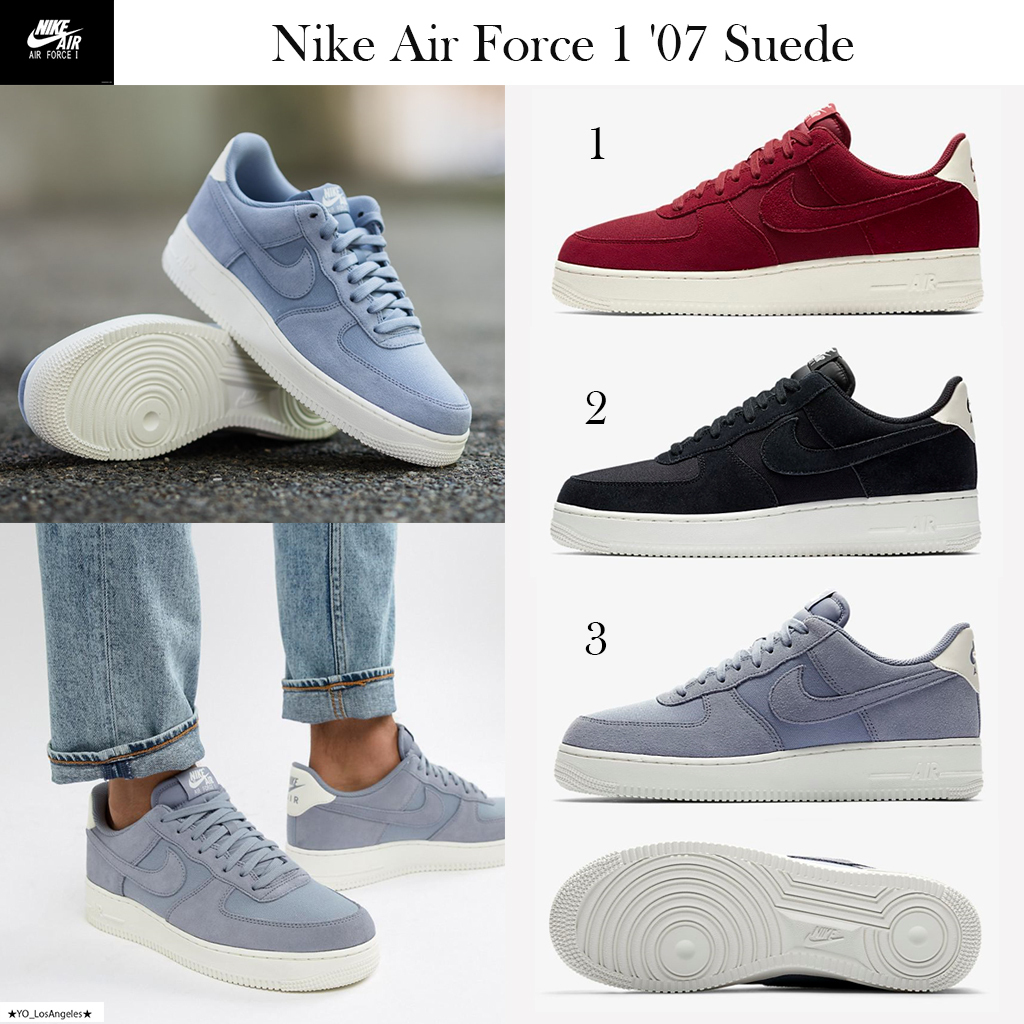 Nike AIR FORCE 1 2018 19AW Suede Street Style Sneakers