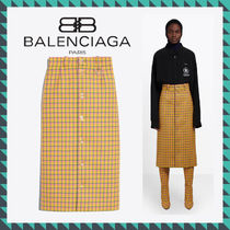 18-19AW新作 BALENCIAGA(バレンシアガ) SKIRT WITH BUTTONS