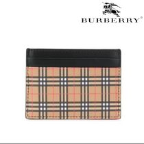 VIP価格【BURBERRY】CREDIT CARD HOLDER IN LEATHER 関税