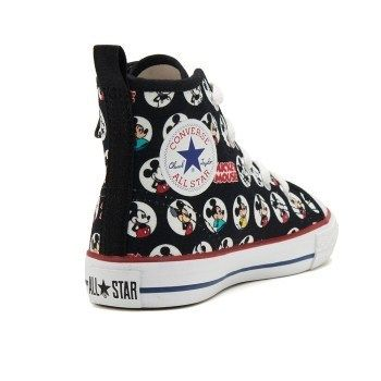 03ef064341259a ... CONVERSE キッズスニーカー 国内配送 CONVERSE CHILD ALL STAR N MICKEY MOUSE HM Z HI  BLK ...