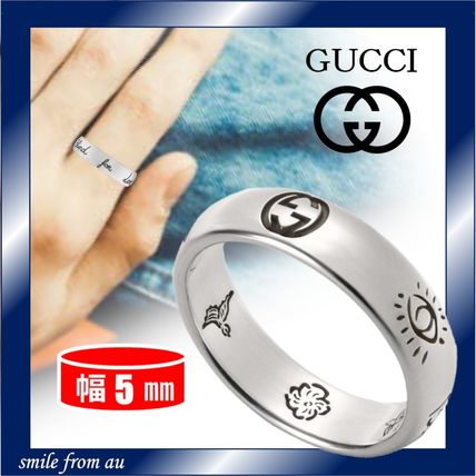GUCCI 指輪・リング GUCCI★Blind For Love シルバーリング★5mm★直営店
