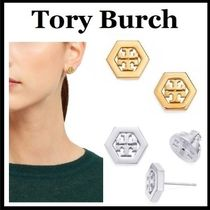 Tory Burch◆HEX LOGO STUD EARRING ピアス◆無料ギフト包装