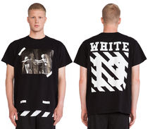 OFF WHITE 13LOGO SKULL CARAVAGGIO DIAGONALS T-SHIRT