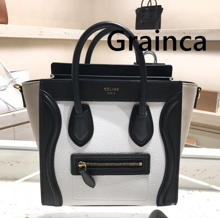 CELINE★最新色 ラゲージ ナノ WHITE/LIGHT TAUPE★関税込み