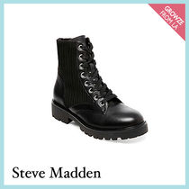 【Steve Madden】リブ風切り替え レースアップブーツ HIKE
