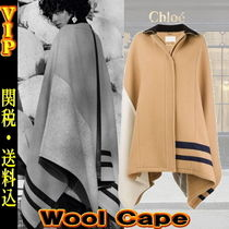 ◆◆VIP◆◆  CHLOE color-block wool cape / 送税込