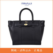 MULBERRY Bayswater バッグ 黒 レザー 革 ロゴ ブラック