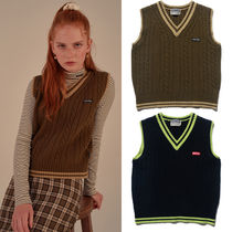 ★SCULPTOR★韓国 ニットベスト CABLE KNIT WOOL VEST【全2色】