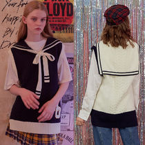 rolarola★韓国人気ブランド SAILOR RIBBON KNIT VEST TS-18535