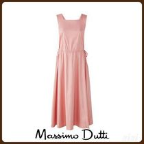 MassimoDutti♪COTTON DRESS WITH CRISS-CROSS BACK