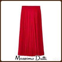 MassimoDutti♪PLEATED SKIRT WITH SLIT DETAIL