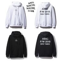 【即発送】ANTI SOCIAL SOCIAL CLUB ASSC■Bad Times パーカー