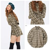 ★NASTYKICK★  FANCY CHECK SHIRT BEIGE